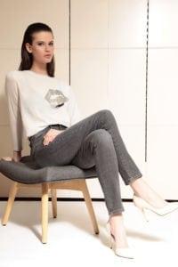 Di Caprio ženska majica s dugim rukavima i printom usana | Varteks