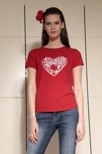 Di Caprio ženska majica sa srcem od šljokica | Varteks