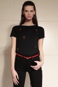 Di Caprio ženska majica s detaljem trešanja | Varteks