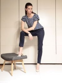 Di Caprio plava ženska viskozna bluza | Varteks