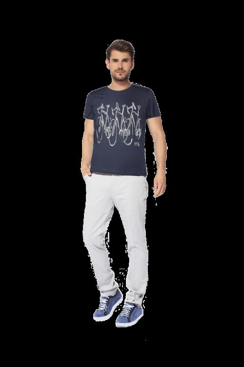 Di Caprio pamučna muška majica s printom bicikla | Varteks